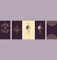 modern yoga social media stories layout set violet vector image vector image