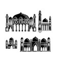 mosque icon design template set vector image
