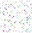 multicolored seamless star pattern background vector image vector image