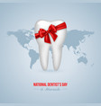 national dentists day background vector image