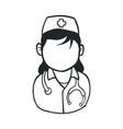 nurse avatar profile vector image