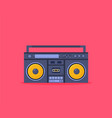 old style music boombox flat music systems vector image vector image