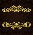 ornate gold border vector image vector image