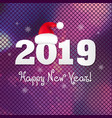 poster 2019 new year vector image