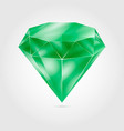 realistic green round gem - emerald vector image vector image