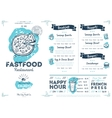 Restaurant cafe fast food menu template vector image vector image