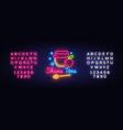 rosh hashanah jewish holiday neon banner design vector image vector image