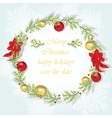 Round Christmas wreath vector image