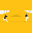 runnning girl in walk use in web project vector image vector image
