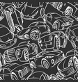 seamless pattern with handwritten cars vector image vector image