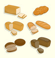 set bakery products on a white background vector image vector image