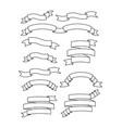set ribbons frames icons vector image