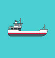 ship line outline boat vector image vector image