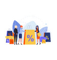 shopping purchasing sale discount concept vector image