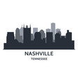 silhouette nashville city tennessee vector image vector image