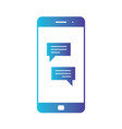 smartphone with chatting screen messenger vector image