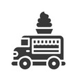 soft serve truck food truck solid style icon vector image vector image