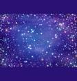 starry night sky vector image vector image