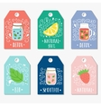 Stickers labels cards tags with doodle vector image