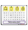 technology hand drawing line icons vector image vector image