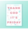 Thank God its Friday Swiss Style Minimal Poster or vector image