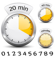 timer - easy change time every one minute vector image vector image