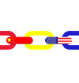 trading chain connectionchina america vector image