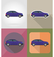transport flat icons 01 vector image vector image