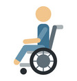 trauma accident wheelchair safety human vector image