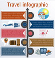 travel infographic template 5 positions vector image vector image