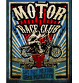 vintage motorcycle set tee graphic design vector image vector image