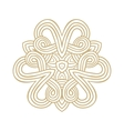 winter celtic knot pattern card mandala amulet vector image vector image
