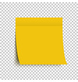 yellow post note sticker sticky note yellow vector image vector image