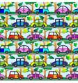 cartoon car seamless pattern vector image