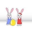 Rabbits boy and girl vector image