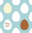 Sketch Easter eggs pattern vector image