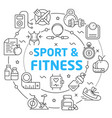 sport linear vector image