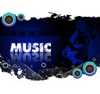 Abstract music background vector image