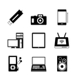 Mobile electronic icons vector image