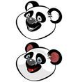 head of panda vector image