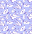 Sketch origami seamless pattern vector image