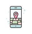 smartphone gps linear icon line vector image