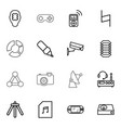 16 digital icons vector image vector image