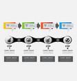 4 steps infographic templatetimeline vector image
