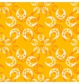 Abstract orange seamless pattern vector image vector image