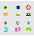 Arrow sign icon set design eps10 vector image vector image
