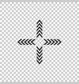 arrows in four directions icon isolated vector image vector image
