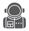 astronaut glyph icon spaceman and astronomy vector image vector image