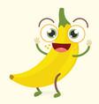 banana character vector image