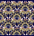 baroque seamless pattern gold baroque wallpaper vector image vector image